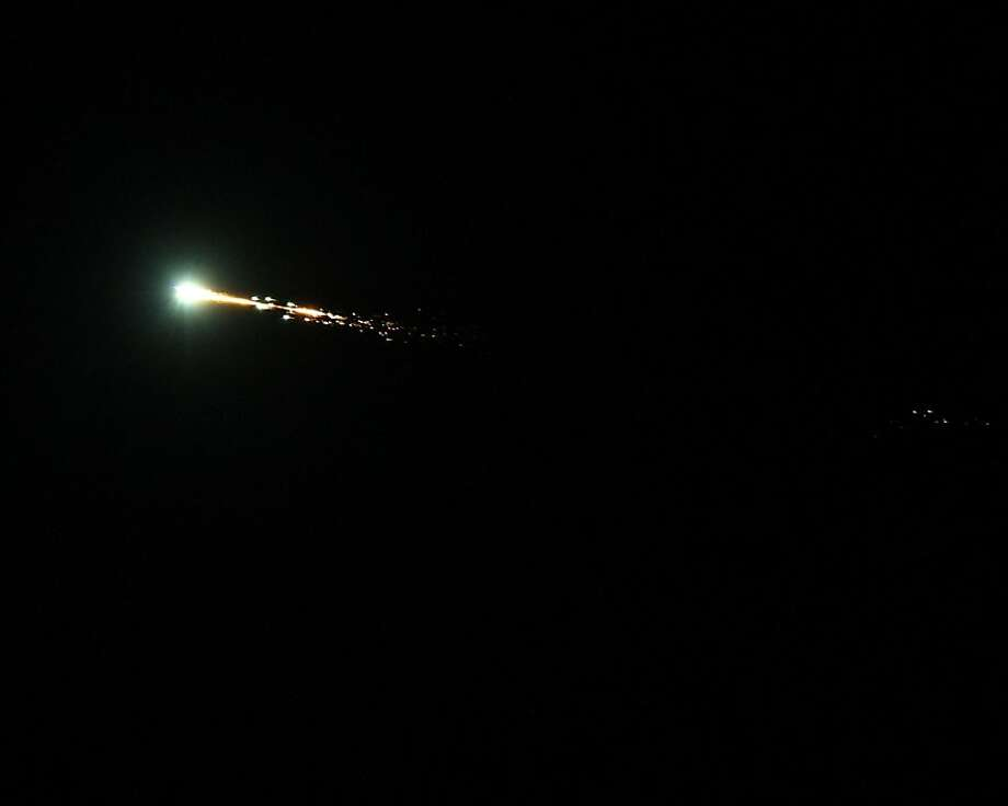 A shot of the meteor taken at Cardinal Newman High School in Santa Rosa, CA on October 17, 2012. Photo: Bob Moreno