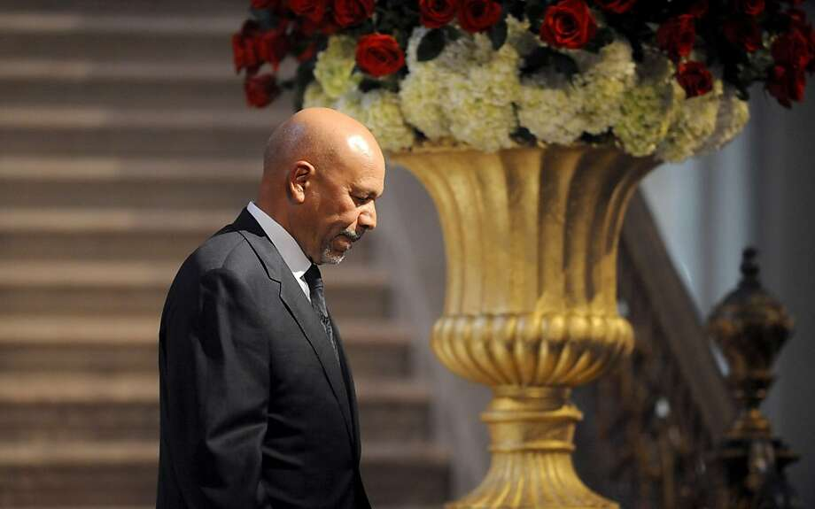 Libyan Ambassador Ali Suleiman Aujali at a memorial for Ambassador J. Christopher Stevens. Photo: Noah Berger, Special To The Chronicle