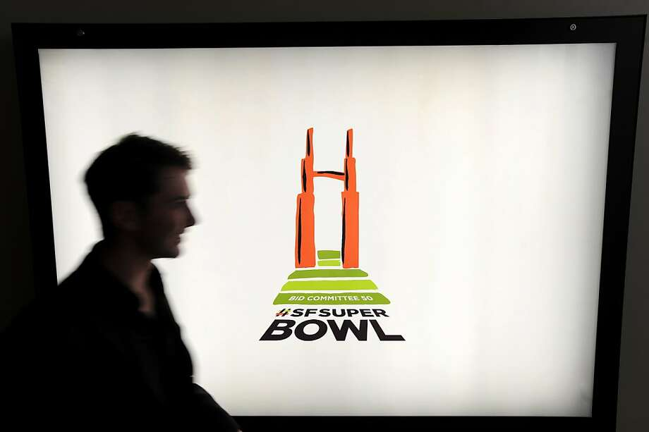 The campaign to bring the Super Bowl to the Bay Area has a logo - plus a hashtag, #SFSuperBowl. Photo: Noah Berger, Special To The Chronicle