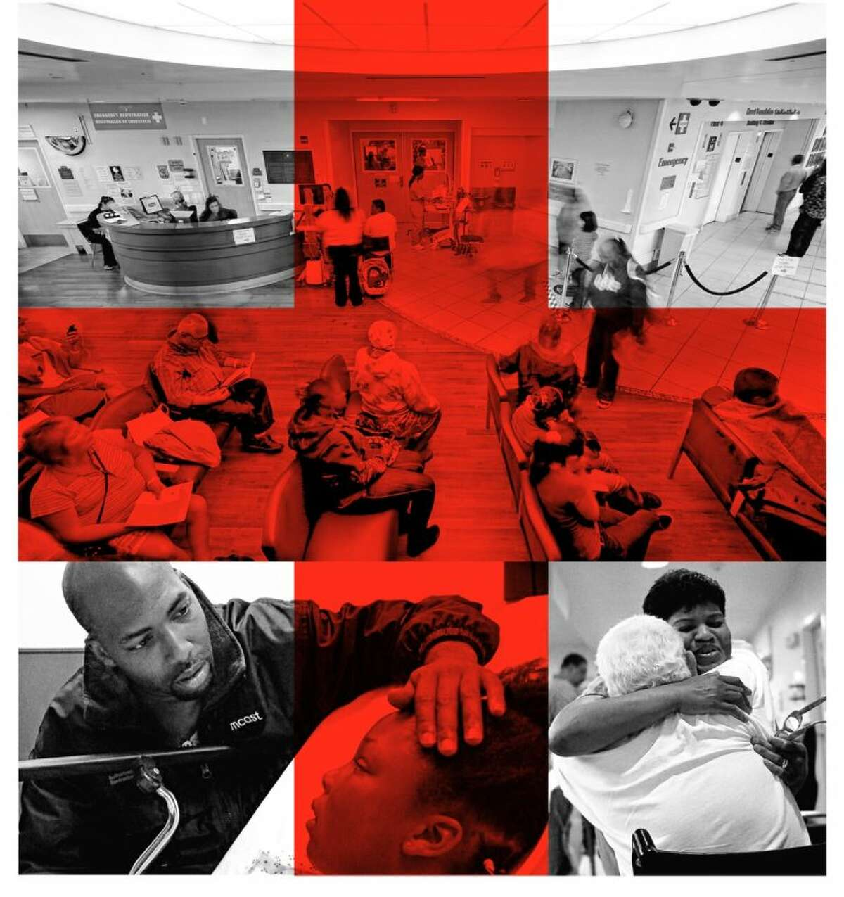 """Peter Nicks' """"The Waiting Room"""" trains a camera on the staff and visitors, many of them uninsured, at the ER at Highland Hospital in Oakland."""
