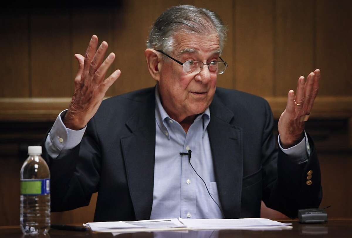 Representative Pete Stark speaks to the Chronicle Editorial Board on Tuesday, May 1, 2012 in San Francisco, Calif.