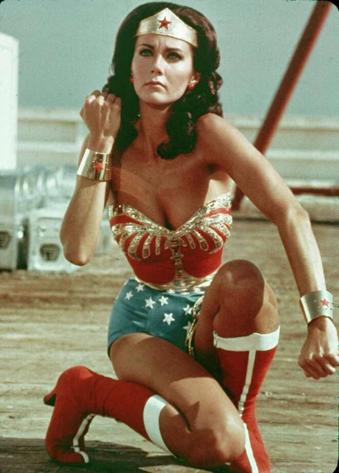 What girl didn't want to be Wonder Woman in the late '70s? They owe that to Lynda Carter, who was the 1972 Miss World USA before swinging that magic lasso in the TV series. It debuted in 1975.  Photo: Warner Bros., Getty Images / Hulton Archive