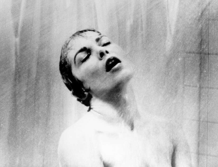 """Psycho"" (1960): Actress Janet Leigh appears as Marion Crane in the famous shower scene in Hitchcock's classic thriller. Photo: AP"