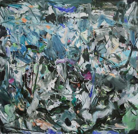 """Slippy"" (2012), oil on canvas by Sherie' Franssen, 65 by 67 inches, at Dolby Chadwick Gallery. Photo: Unknown"