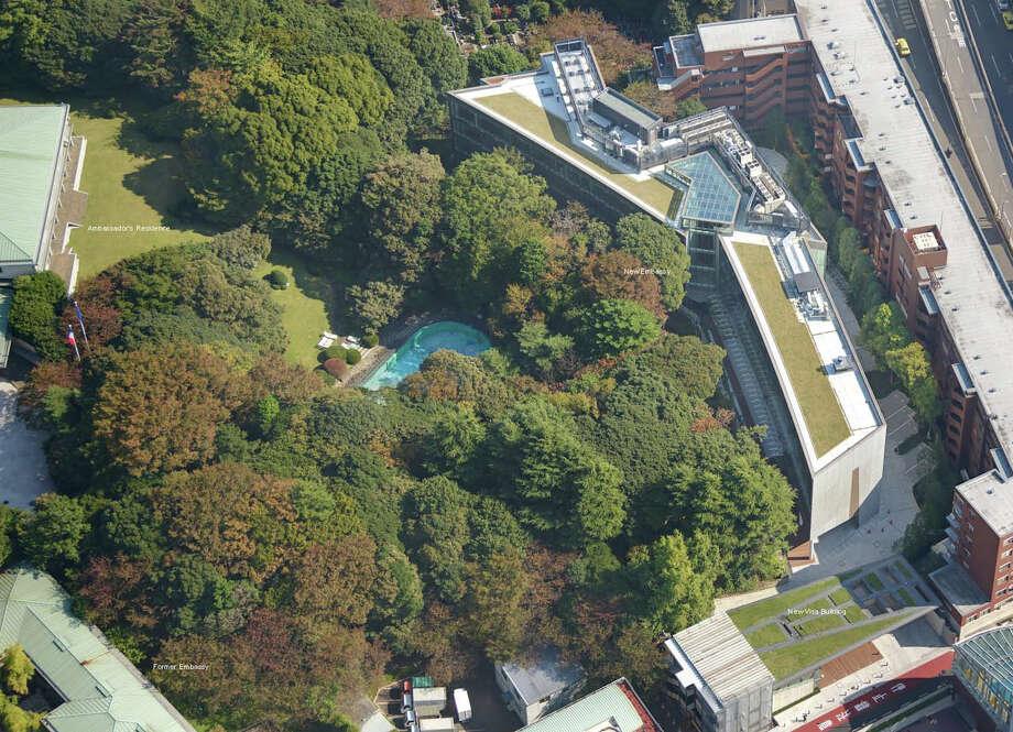 Citation: New French Embassy, Tokyo, Japan; architect, Takenaka Corp. Photo: Courtesy American Institute Of Architects Northwest And Pacific Region/Takenaka Corp.