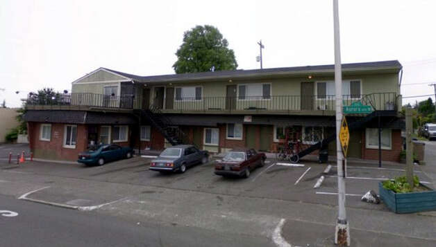 A June 2008 picture of the Italia Motel, when it was a chronic problem for Seattle police. (Department of Assessments)