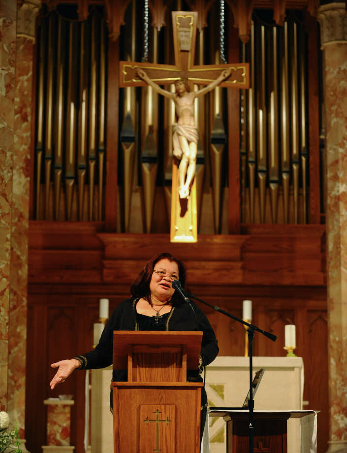 Dr. Alveda King, the neice of the late Dr. Martin Luther King, speaks about the pro-life movement at St. Teresa Church  in Trumbull, Conn. on Thursday October 18, 2012. Photo: Christian Abraham / Connecticut Post