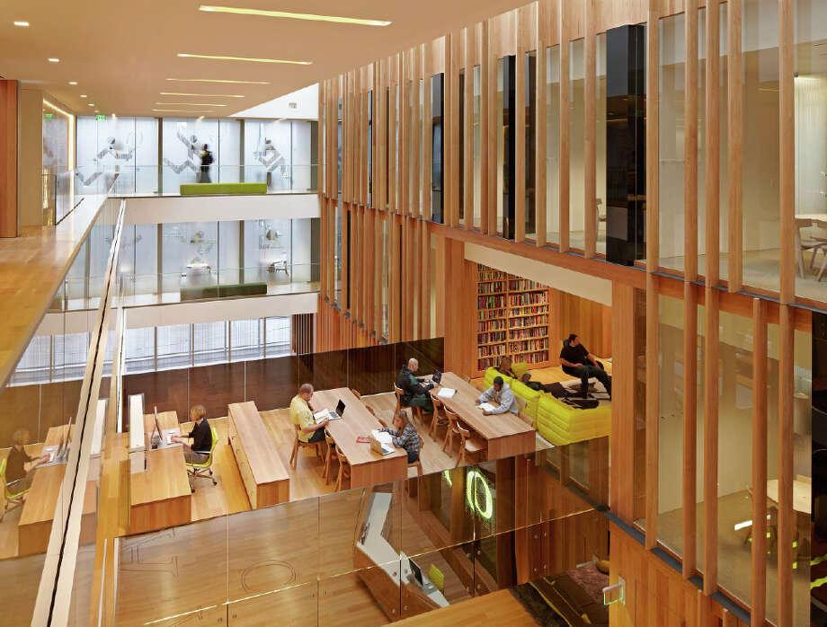 Honor Award: University of Oregon John E. Jaqua Academic Center for Student Athletes, Eugene, Ore., ZGF Architects. Photo: Courtesy American Institute Of Architects Northwest And Pacific Region/ZGF Architects