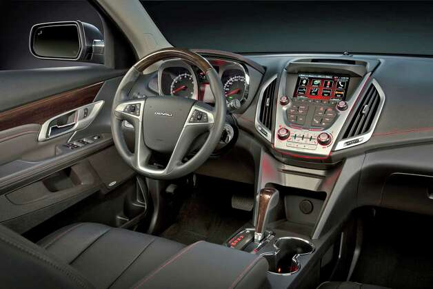 GMC Terrain Denali Interior in Jet Black Photo: General Motors / License Agreement - Please read the following important information pertaining to this image. This GM image is protected by copy