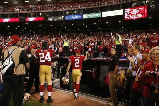 San Francisco 49ers kicker David Akers (2) exits the field after defeating the Seattle Seahawks at Candlestick Park on Thursday, October 18, 2012 in San Francisco, Calif. Photo: Beck Diefenbach, Special To The Chronicle