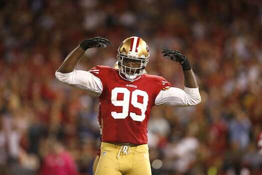 49ers Linebacker Aldon Smith (99)The San Francisco 49ers game against the Seattle Seahawks at Candlestick Park in San Francisco, Calif., on Thursday October 18, 2012. Photo: Stephen Lam, Special To The Chronicle