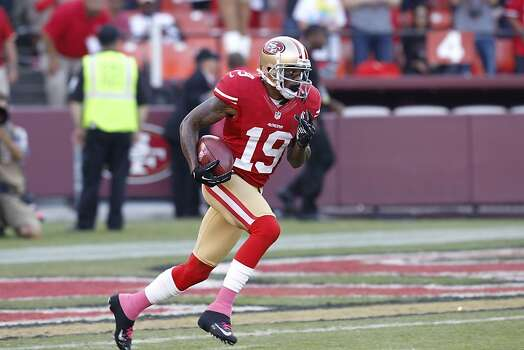 Wide receiver Ted Ginn Jr. (19) run turns a kick off during the first quarter of the San Francisco 49ers game against the Seattle Seahawks at Candlestick Park in San Francisco, Calif., on Thursday October 18, 2012. Photo: Brant Ward, The Chronicle