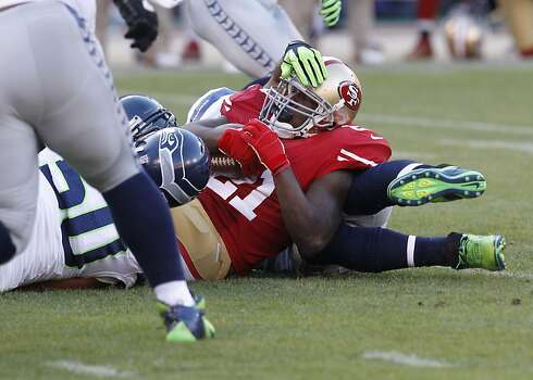 Running back Frank Gore (21) during the first quarter of the San Francisco 49ers game against the Seattle Seahawks at Candlestick Park in San Francisco, Calif., on Thursday October 18, 2012. Photo: Brant Ward, The Chronicle