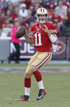 Quarterback Alex Smith (11) during the first quarter of the San Francisco 49ers game against the Seattle Seahawks at Candlestick Park in San Francisco, Calif., on Thursday October 18, 2012. Photo: Brant Ward, The Chronicle
