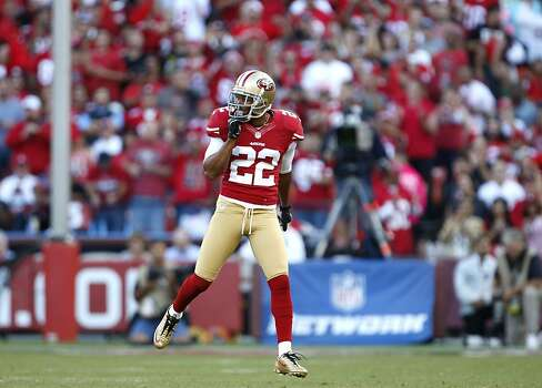 Cornerback Carlos Rogers (22) during the first half of the San Francisco 49ers game against the Seattle Seahawks at Candlestick Park in San Francisco, Calif., on Thursday October 18, 2012. Photo: Beck Diefenbach, Special To The Chronicle