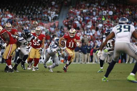 Quarterback Alex Smith (11) during the first half of the San Francisco 49ers game against the Seattle Seahawks at Candlestick Park in San Francisco, Calif., on Thursday October 18, 2012. Photo: Stephen Lam, Special To The Chronicle