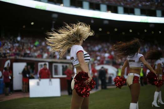 The San Francisco Gold Rush Cheerleaders. The San Francisco 49ers play the Seattle Seahawks at Candlestick Park in San Francisco, Calif., on Thursday October 18, 2012. Photo: Stephen Lam, Special To The Chronicle