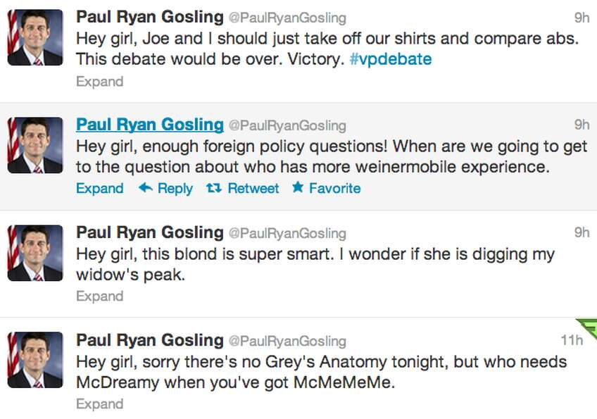 Screenshot of @PaulRyanGosling's timeline. (Jana Kasperkevic / Houston Chronicle)
