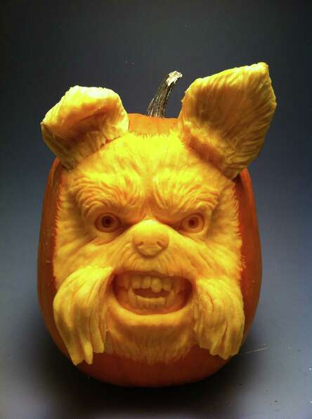 A 3D pumpkin sculpture from Villafane Studios.