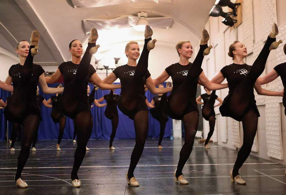 NEW YORK, NY - OCTOBER 18: The Rockettes rehearse for the upcoming Christmas Spectacular on October 18, 2012 in New York City. The production is set to run at Radio City Music Hall from November 9th to December 30th and will mark the 85th year of the legendary dance company. Photo: John Moore, Getty Images / 2012 Getty Images
