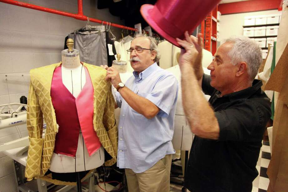 Joan Gillen, costume designer, left, and Joan Font, director of theater troupe Els Comediants, are known for giving their shows an extravagant, larger-than-life look. Photo: Mayra Beltran / © 2011 Houston Chronicle