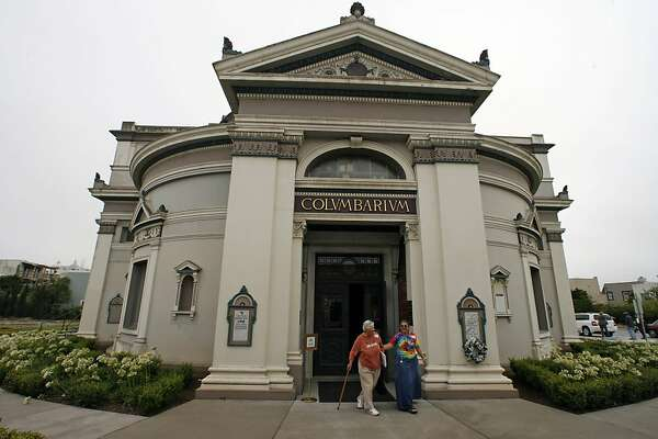 Neptune Society historians lead tours at the Columbarium, a building containing the cremated remains of San Franciscans dating to the turn of the last century.  Ran on: 10-29-2006 Neptune Society historians lead tours at the Columbarium, a building containing the cremated remains of San Franciscans dating back to circa 1900.