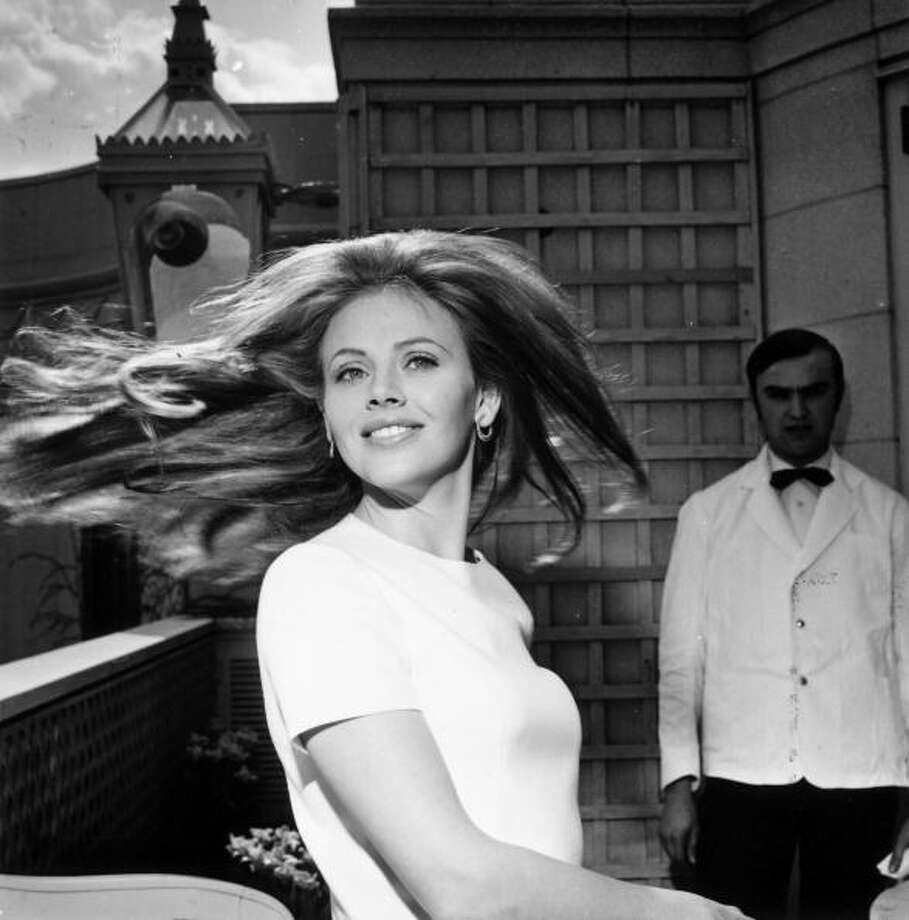 """Swedish-born, shiny-haired actress Britt Ekland was Bond girl """"Mary Goodnight"""" in 1974. She's pictured in 1969. Photo: Ronald Dumont, Getty Images / Hulton Archive"""