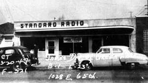 This picture of the old Standard Radio building was taken in March 1947.