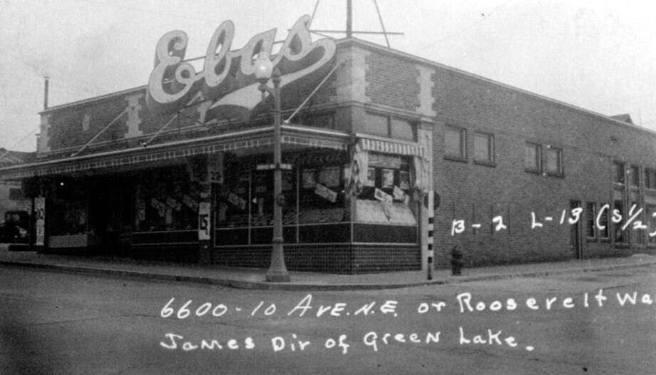 Before the grocery store building was finished in 1955, there was Ebas. This picture was taken in 1937. Photo: State Archives