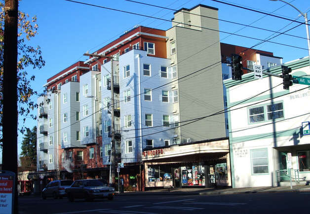 This mixed-use building was constructed on the site in 2006. Photo: Department Of Assessments