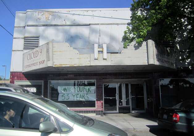 Here's the former Hollywood Theatre in May 2012 after the Cloud 9 consignment shop closed. Photo: Casey McNerthney