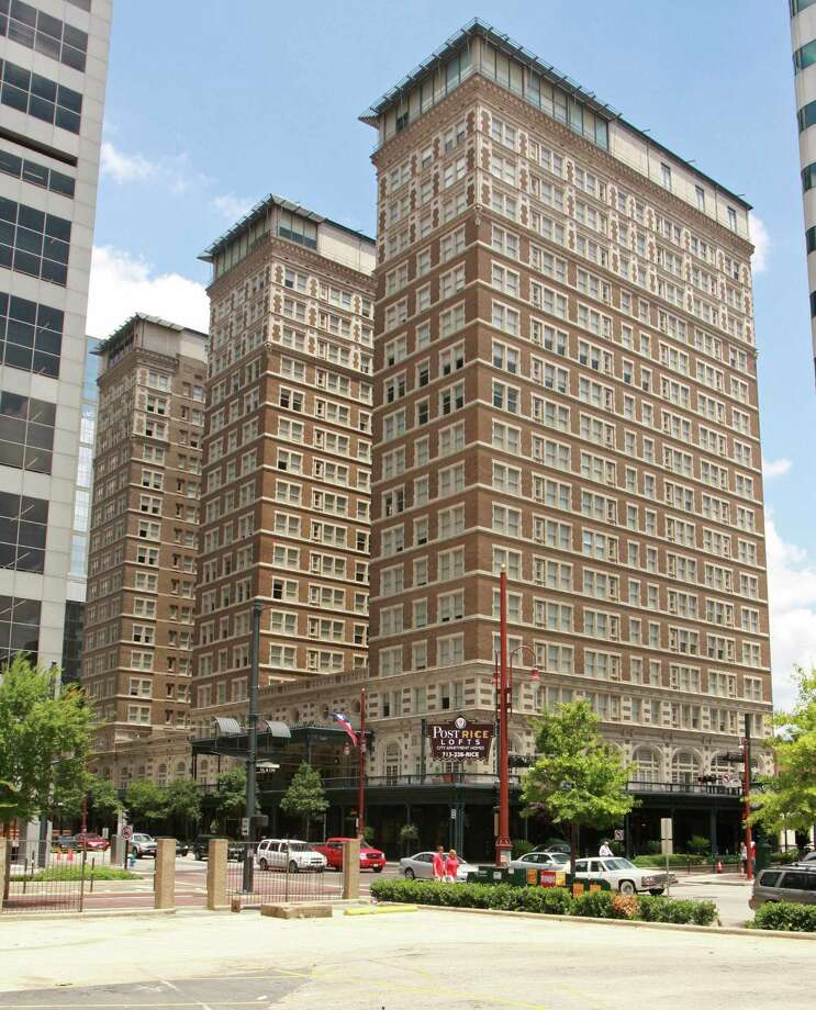 Houston's Post-Rice Lofts, the former Rice Hotel,was built in 1913. Photo: Gary Fountain, For The Chronicle / Freelance