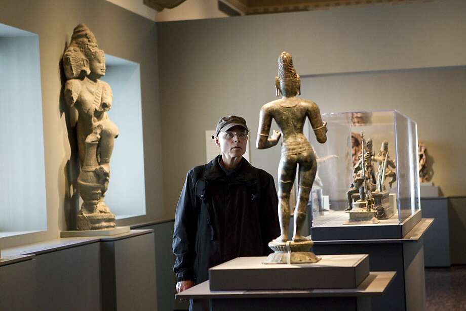 Francisco Santamarina looks at a Shiva sculpture at the Asian Art Museum. Photo: Laura Morton, Special To The Chronicle