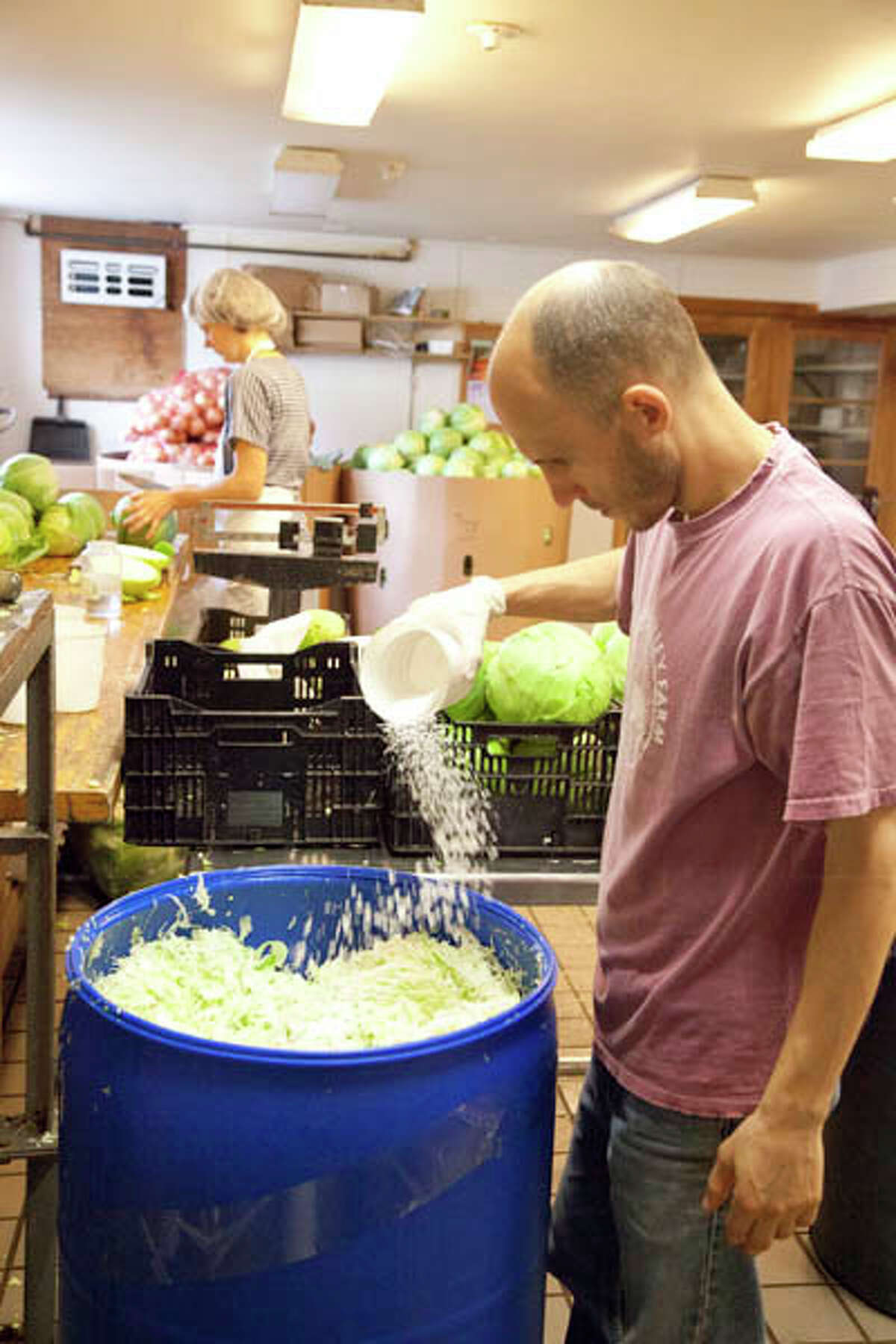 Making sauerkraut is easier than you think, according to Paul Hess, manager of the Kraut Cellar in Ghent. Read more here.