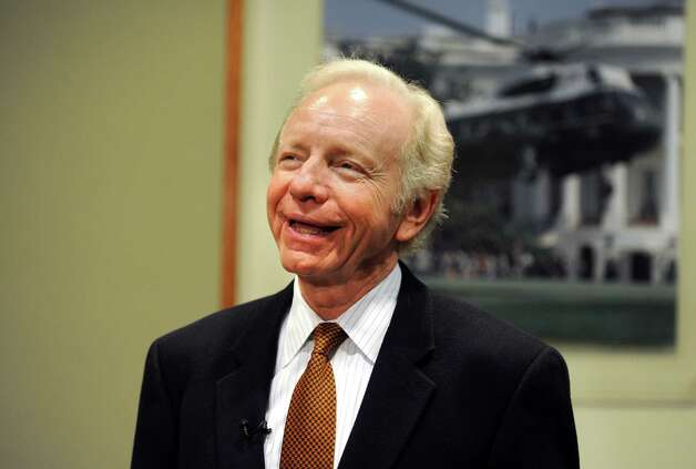 Retiring U.S. Sen. Joe Lieberman visits Sikorsky Aircraft in Stratford, Conn. Friday, Oct. 19, 2012. Photo: Autumn Driscoll / Connecticut Post