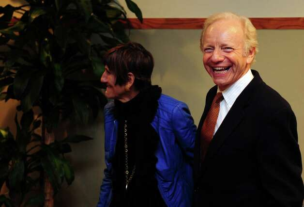 Retiring U.S. Sen. Joe Lieberman and Rep. Rosa L. DeLauro, D-3, visit Sikorsky Aircraft in Stratford, Conn. Friday, Oct. 19, 2012. Photo: Autumn Driscoll / Connecticut Post