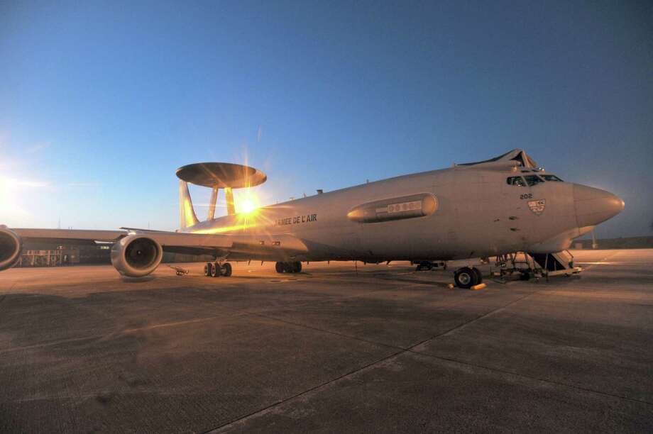 A French E-3 is seen on the tarmac of the 702 French Air Force base to take part in an air surveillance mission above the Mediterranean sea on March 24, 2011, after coalition forces launched air strikes in Libya. Photo: ALAIN JOCARD, AFP/Getty Images / 2011 AFP
