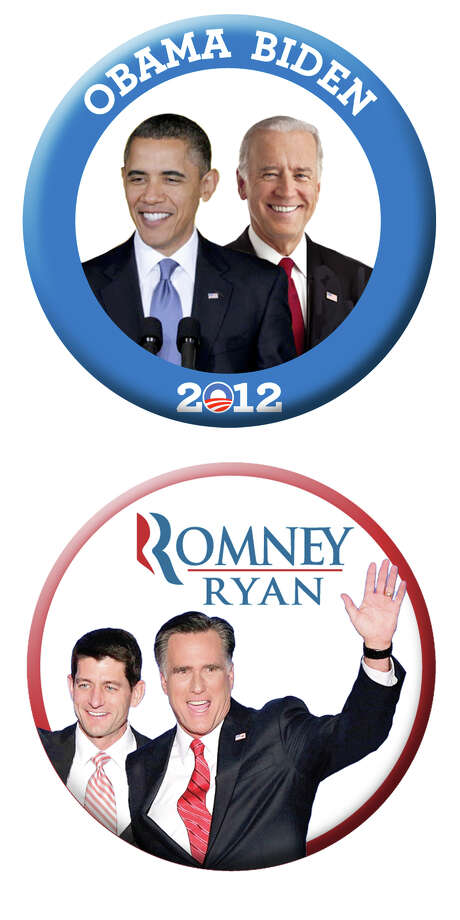 Illustration of campaign 2012 buttons for Star story on debate quotes Photo: Ken Ellis