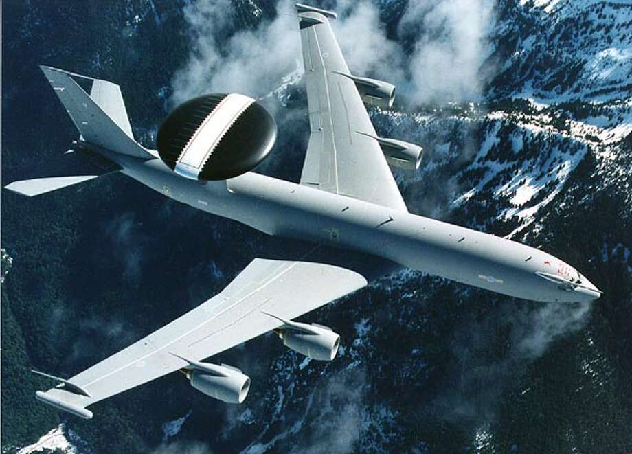 Boeing has also produced E-3s for the NATO, the United Kingdom, France, and Saudi Arabia. This is a United Kingdom E-3. Photo: The Boeing Co.