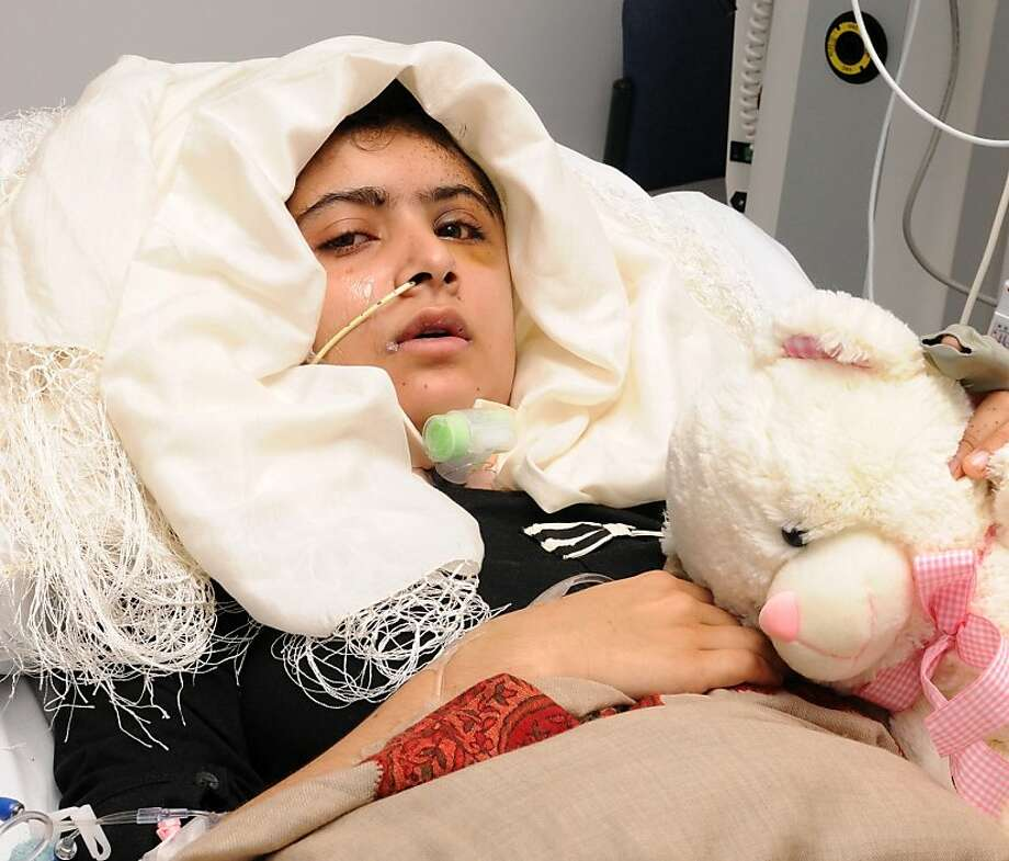 Malala Yousufzai, 14, is recovering from her wounds at a hospital in England. Photo: Uncredited, Associated Press