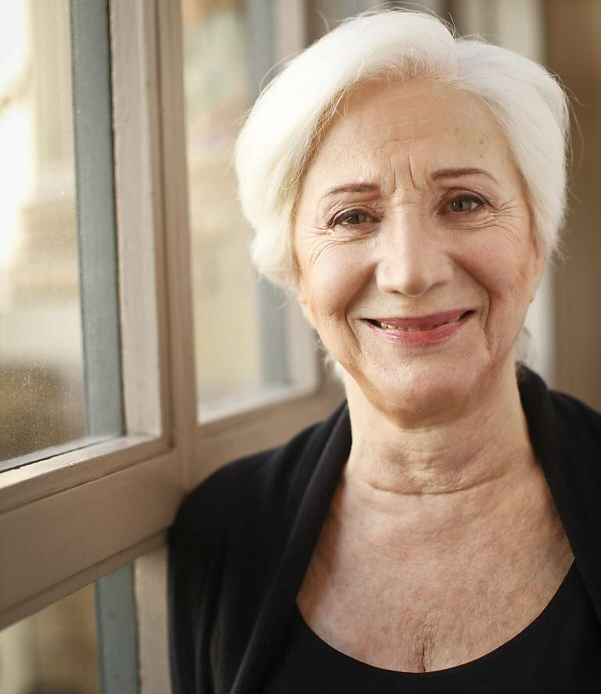 """Olympia Dukakis, star of the upcoming ACT production of, """"Elektra,"""" is seen on Wednesday, Oct. 10, 2012 at the Geary Theater in San Francisco, Calif."""