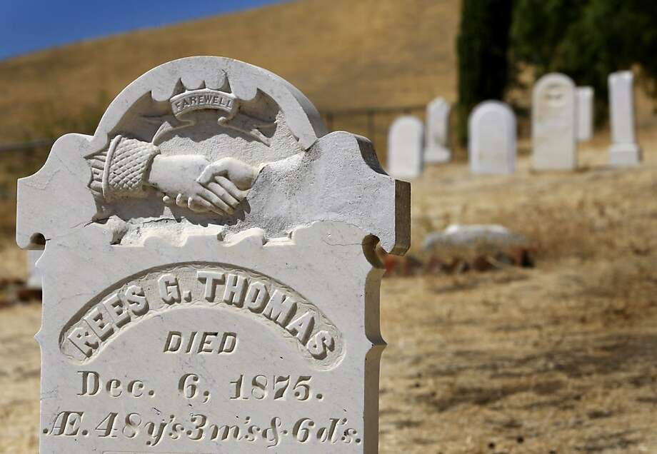 "The Rosehill Cemetery at the Black Diamond Mines near Mt. Diablo is supposedly haunted by a woman known as the ""White Witch"" who can be seen floating around the tombstones. Photo: Paul Chinn, The Chronicle"