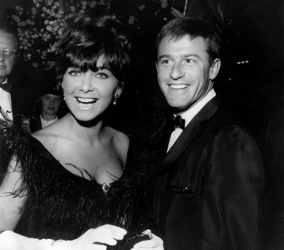 "Suzanne Pleshette was in the '60s movie ""The Birds,"" but she's best known as Emily Hartley from ""The Bob Newhart Show."" The series ran from 1972 to 1978. Pleshette is pictured in 1964 with Roddy McDowall. She died in 2008.  Photo: Nat Dallinger, . / Hulton Archive"