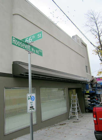 The former Hollywood Theatre and Cloud Nine consignment shop building was renovated. This picture was taken Oct. 19, 2012. Photo: Casey McNerthney/seattlepi.com