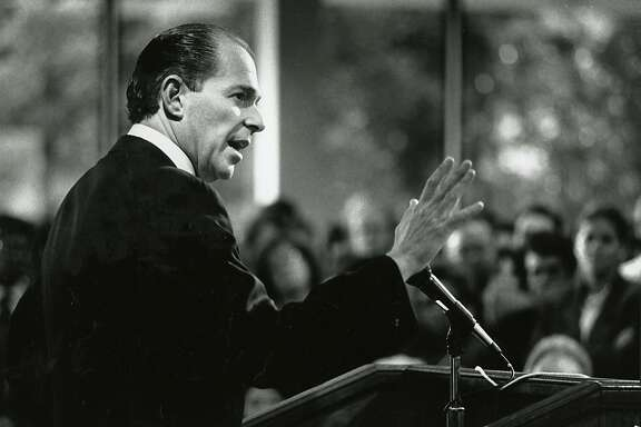 Evan Dobelle spoke after his inauguration as chancellor of San Francisco Community College on Nov. 5, 1990.