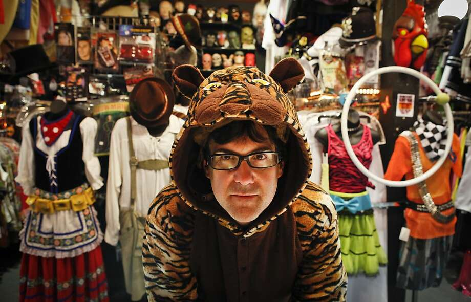 Chuck Nicklow, who has managed Costumes on Haight in San Francisco since 2004, spends all year preparing for the two-week crush before Halloween. Photo: Russell Yip, The Chronicle
