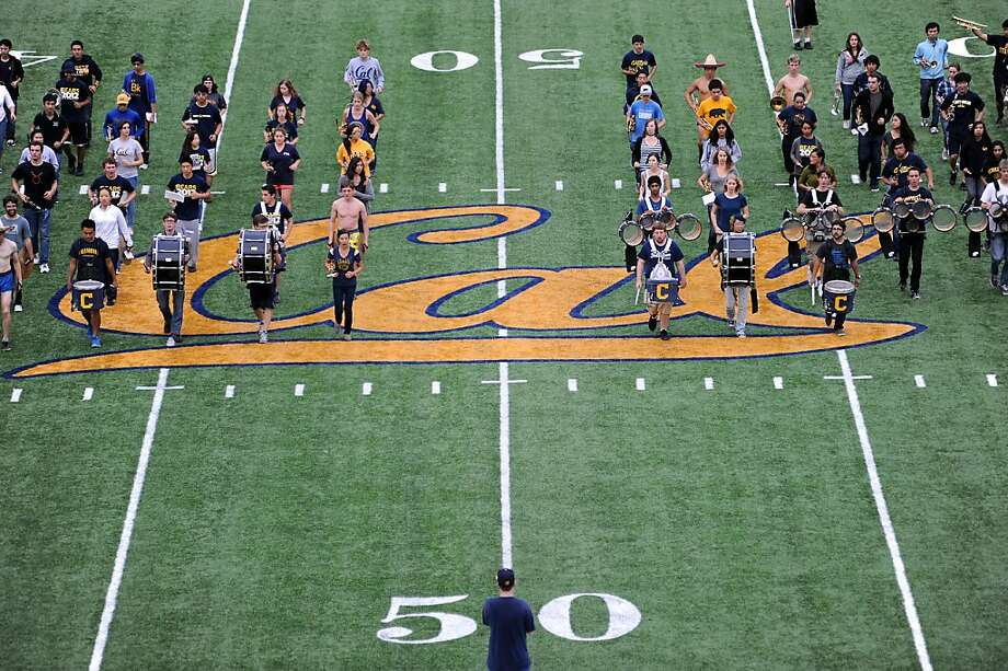 The Cal marching band held a practice in preparation for the game against Stanford at Memorial Stadium in Berkeley on October 19th, 2012. Photo: Michael Short, Special To The Chronicle