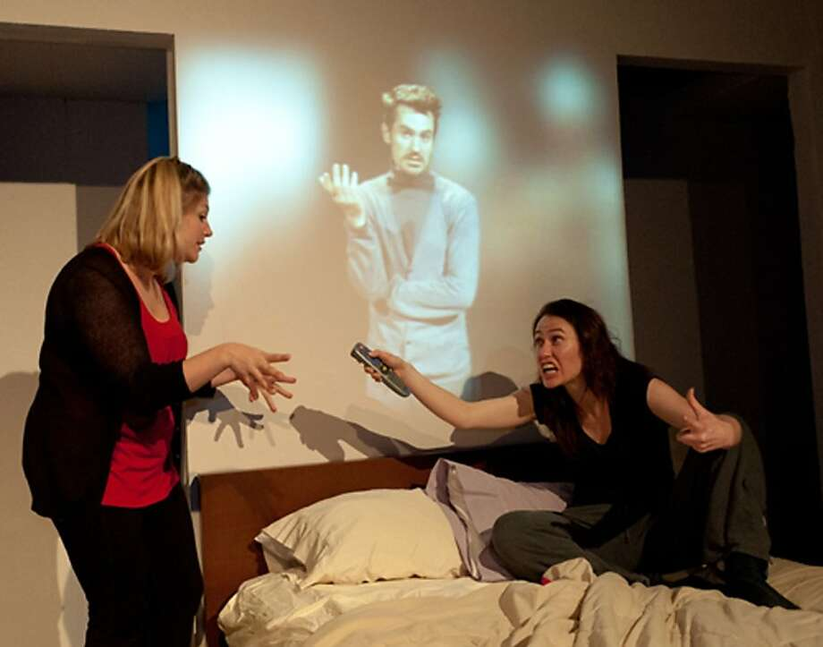 "Jessica Risco (left) and Kimberly Lester in Mojo Theatre's ""Lost Love."" Photo: Micah Stiglietz"