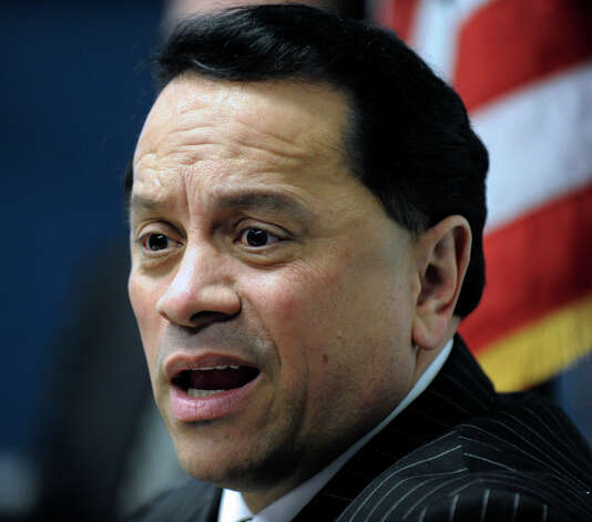 Former Senator Pedro Espada Jr., at the State Capitol in Albany, N.Y. Feb. 8, 2010. (Skip Dickstein/Times Union archive) Photo: Skip Dickstein / 00007491A