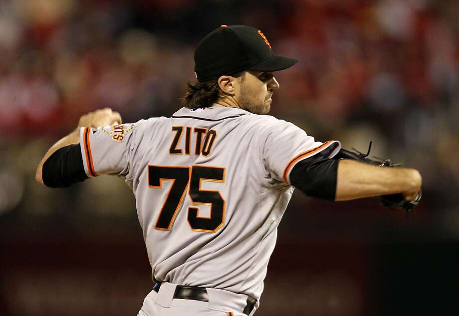 Giants' starting pitcher, Barry Zito throws as the San Francisco Giants take on the St. Louis Cardinals in game five of the National League Championship Series, on Friday Oct. 19, 2012 at Busch Stadium , in  St. Louis, Mo. Photo: Michael Macor, The Chronicle
